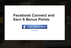 connect Fivestars card to facebook