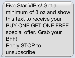 Customer Referral Text Message Marketing